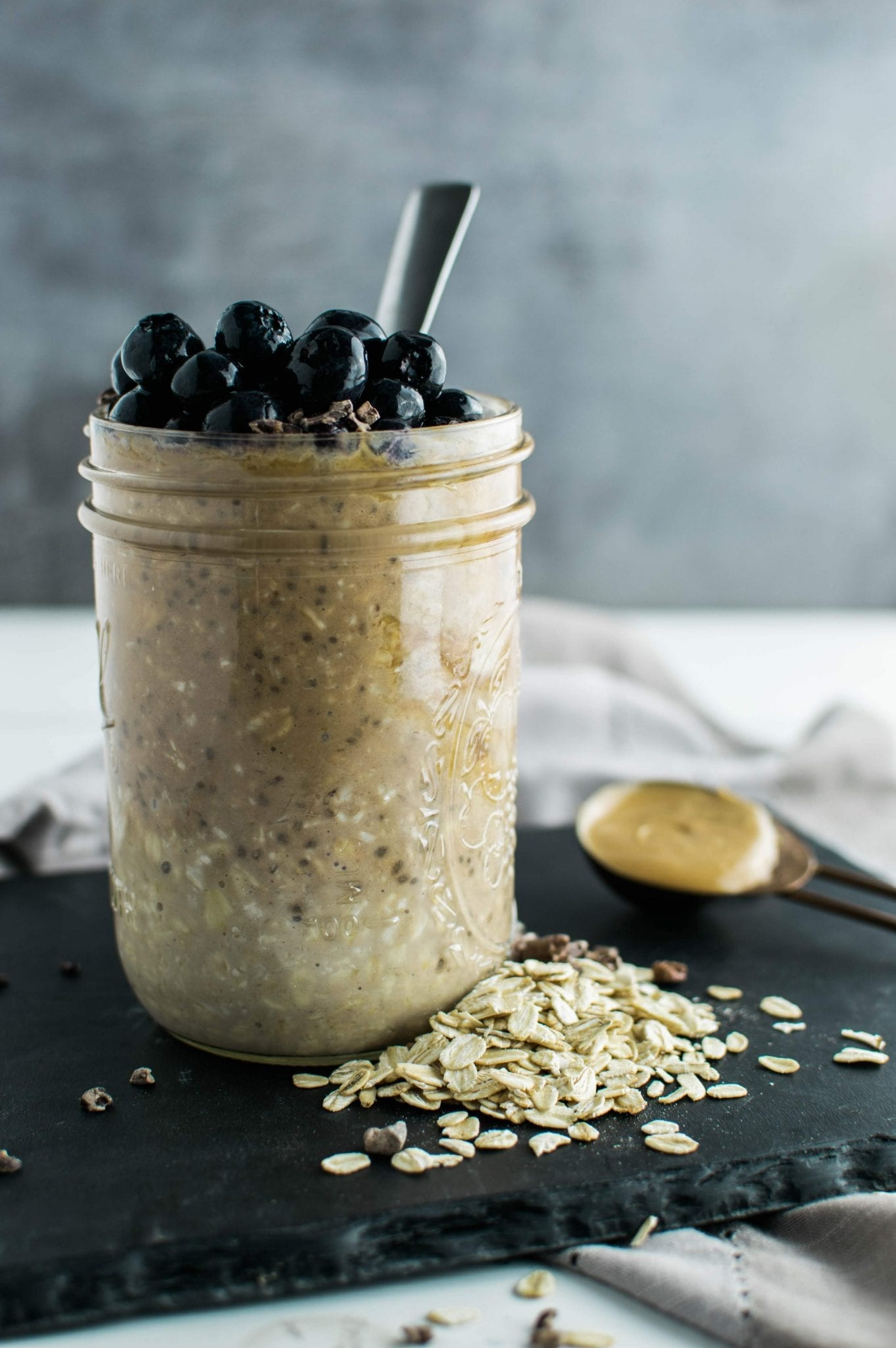 Chocolate Peanut Butter Overnight Oats | Vegan | Gluten Free | Dairy Free