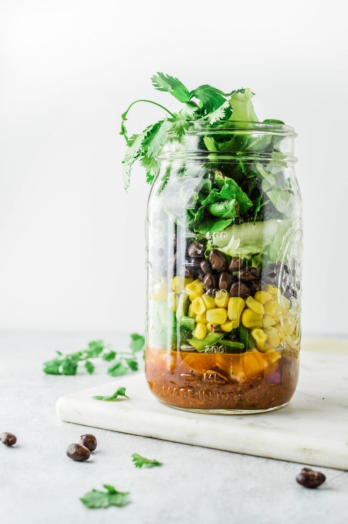 Healthy Vegan Taco Mason Jar Salad