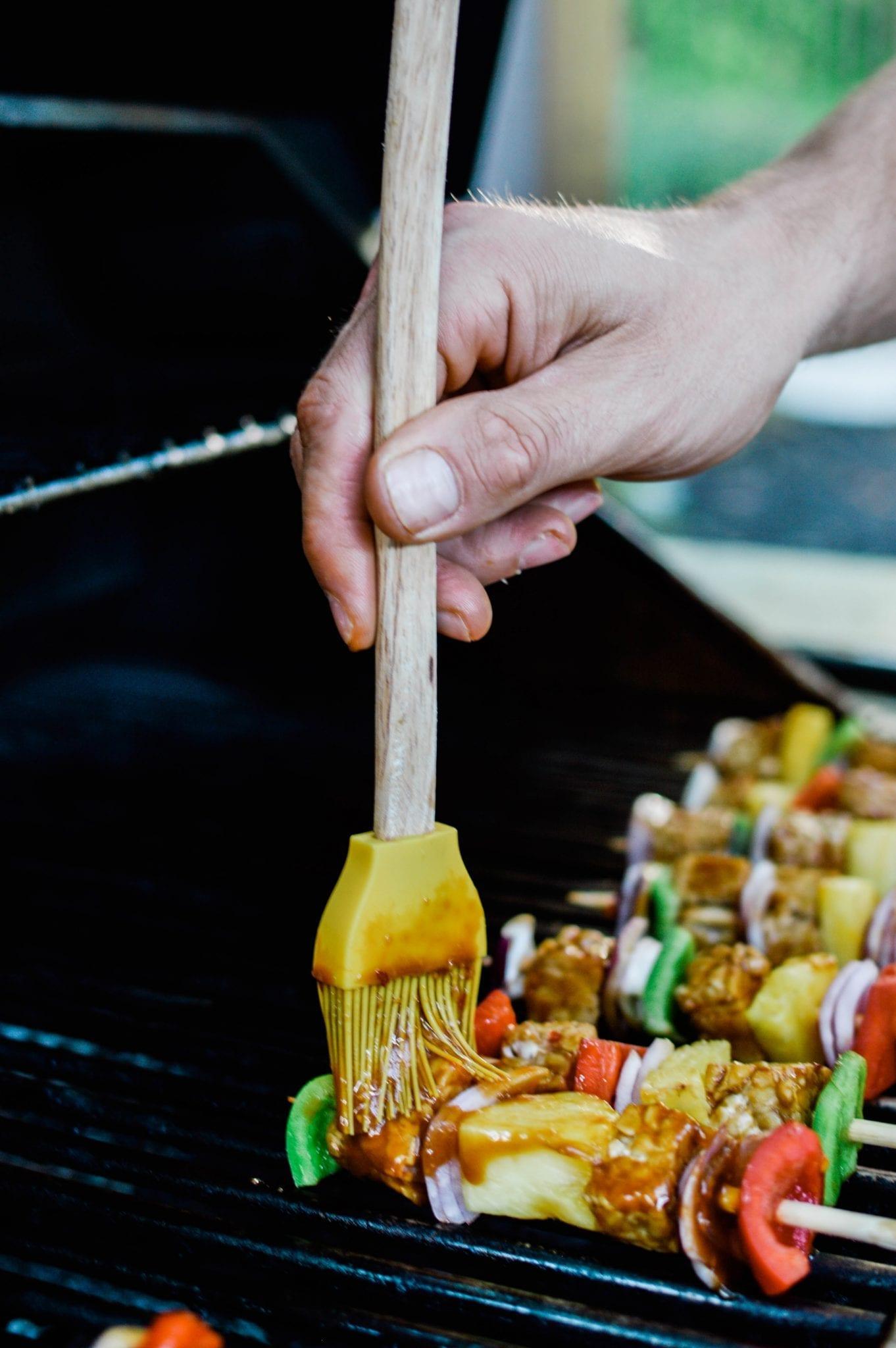 Sweet Teriyaki Veggie Kabobs | Vegan | Gluten-Free