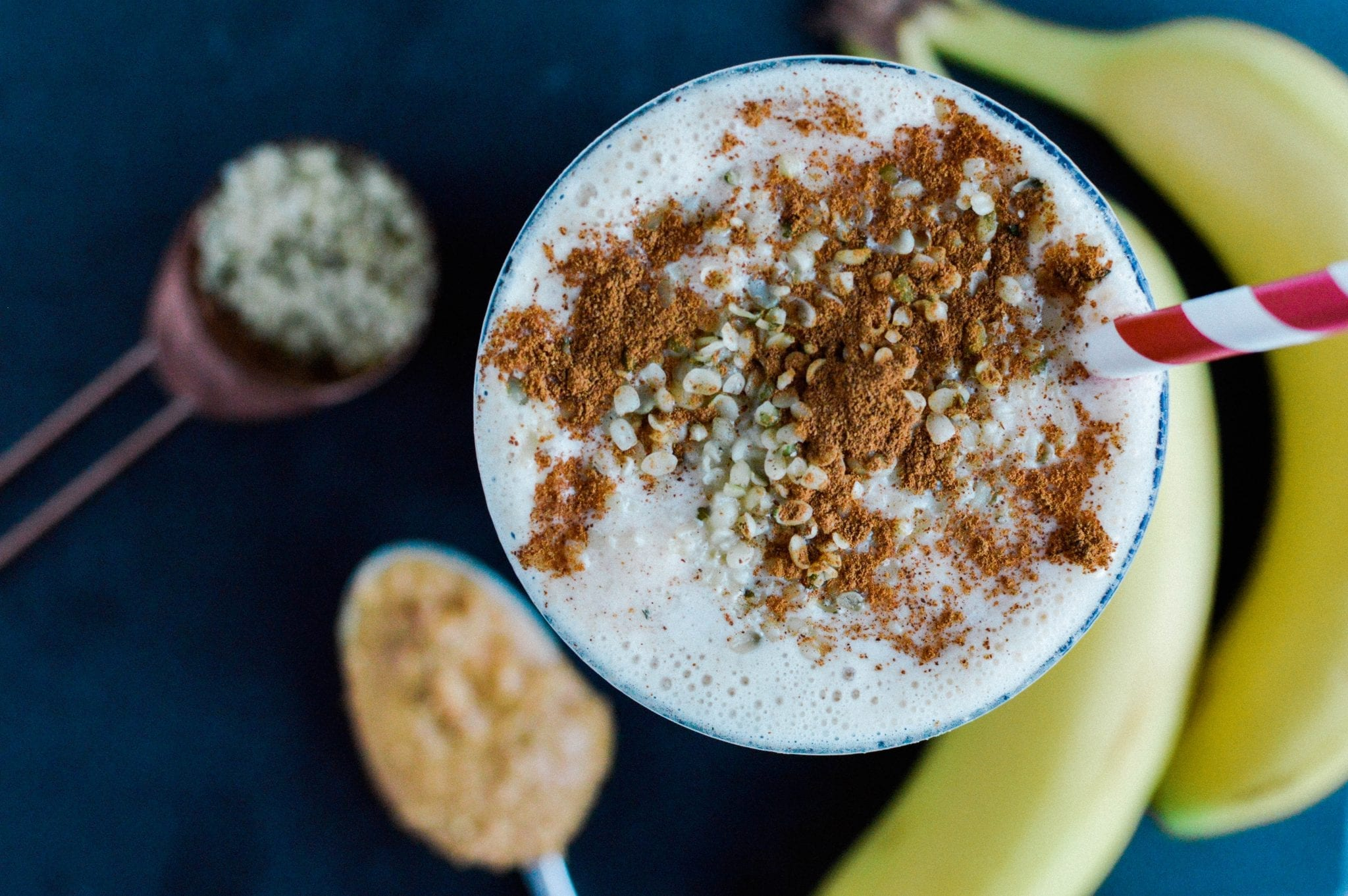 Creamy Peanut Butter Banana Smoothie | Vegan | Dairy-Free | Soy-Free | Gluten-Free