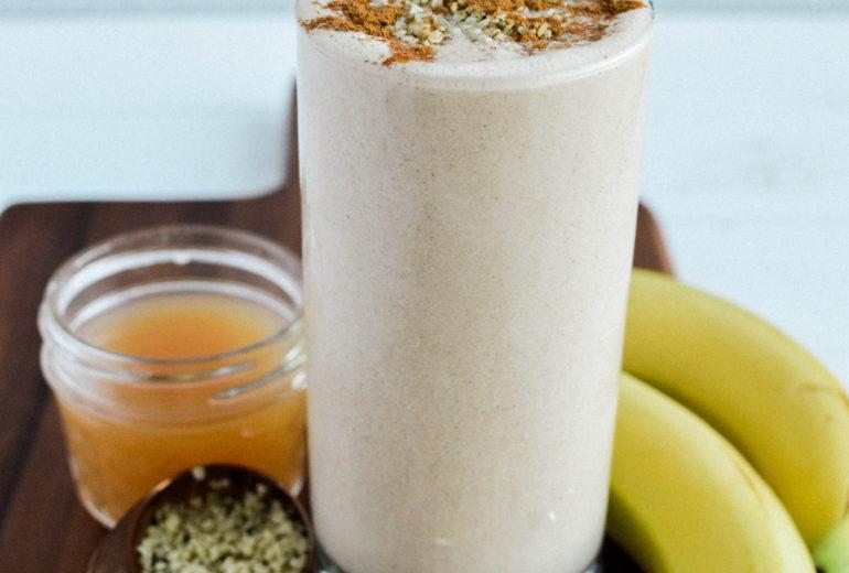 Creamy Peanut Butter Banana Smoothie | Vegan | Dairy-Free | Soy-Free | Gluten-Free