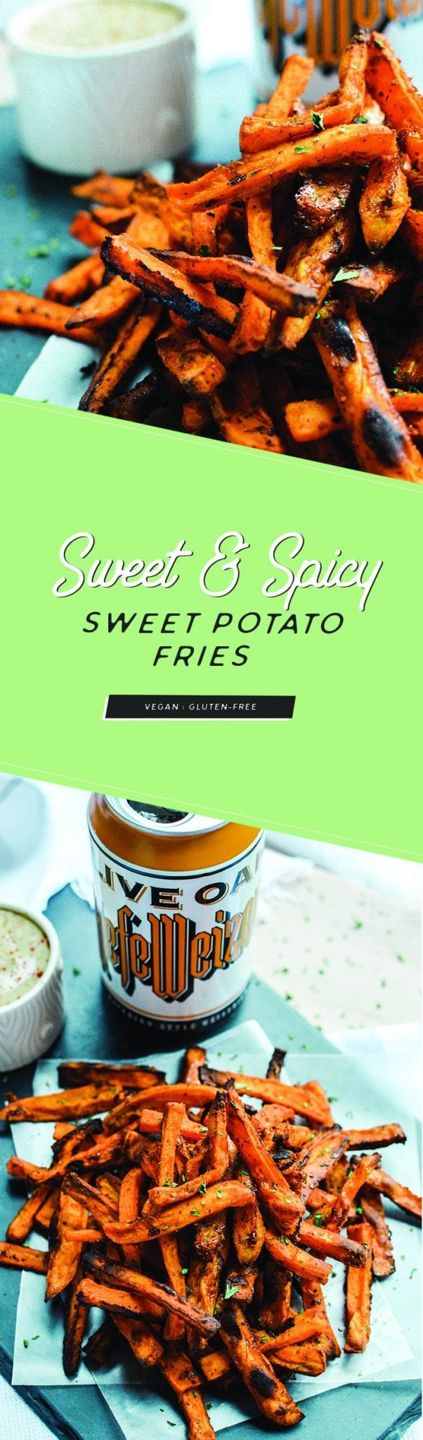 Sweet and Spicy Sweet Potato Fries | Vegan | Gluten-Free