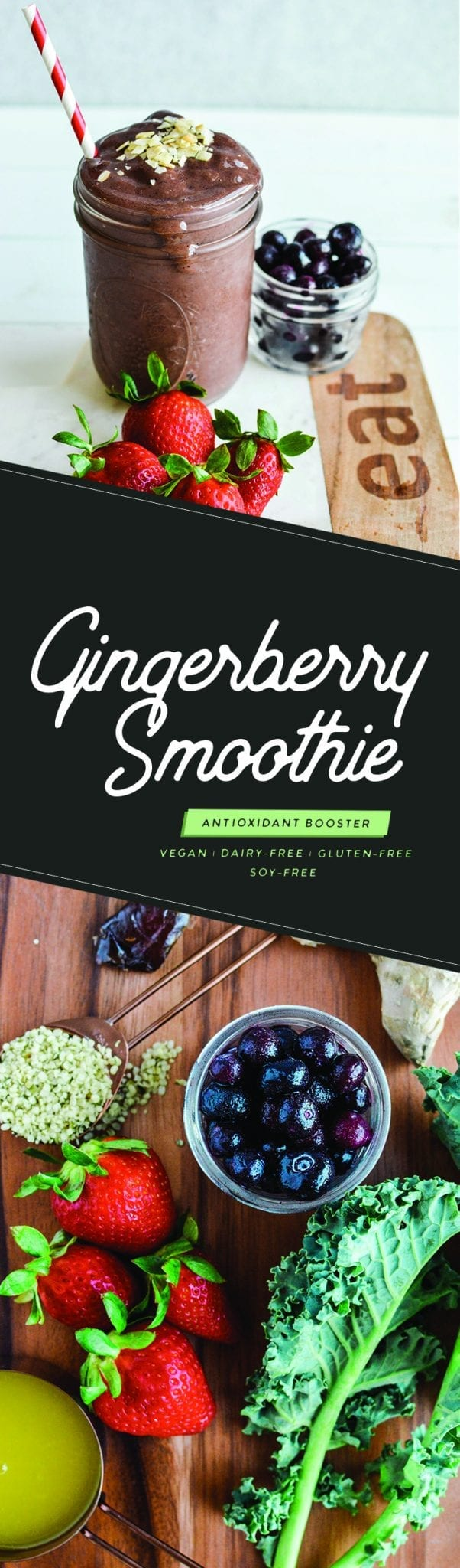Gingerberry Smoothie | Vegan | Dairy-Free | Gluten-Free | Soy-Free