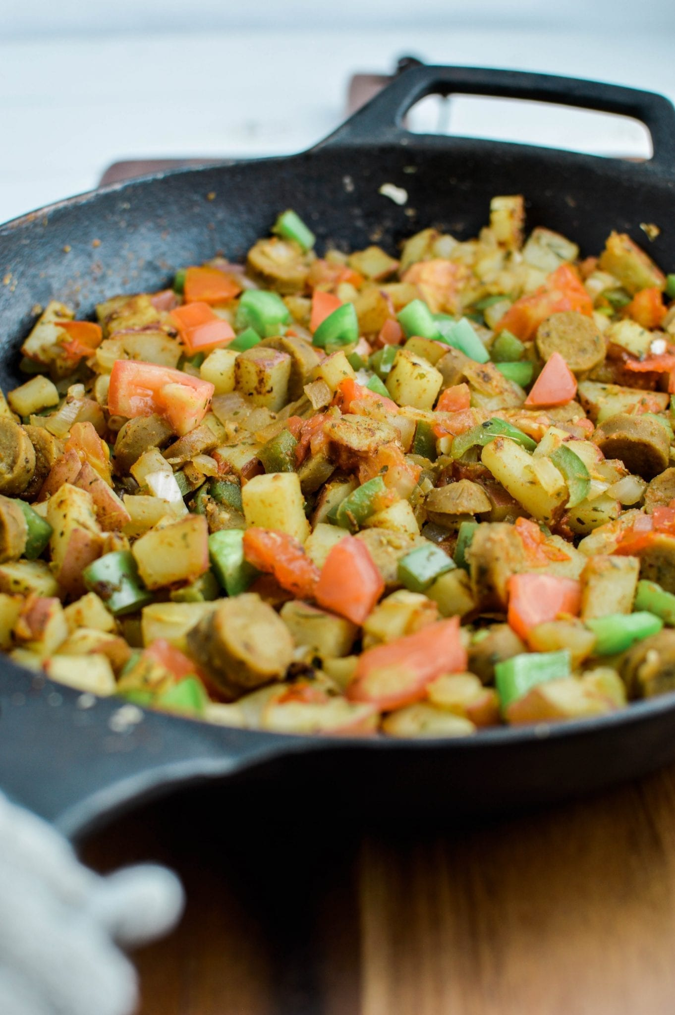 Vegan Sausage Breakfast Skillet (Oil-Free)