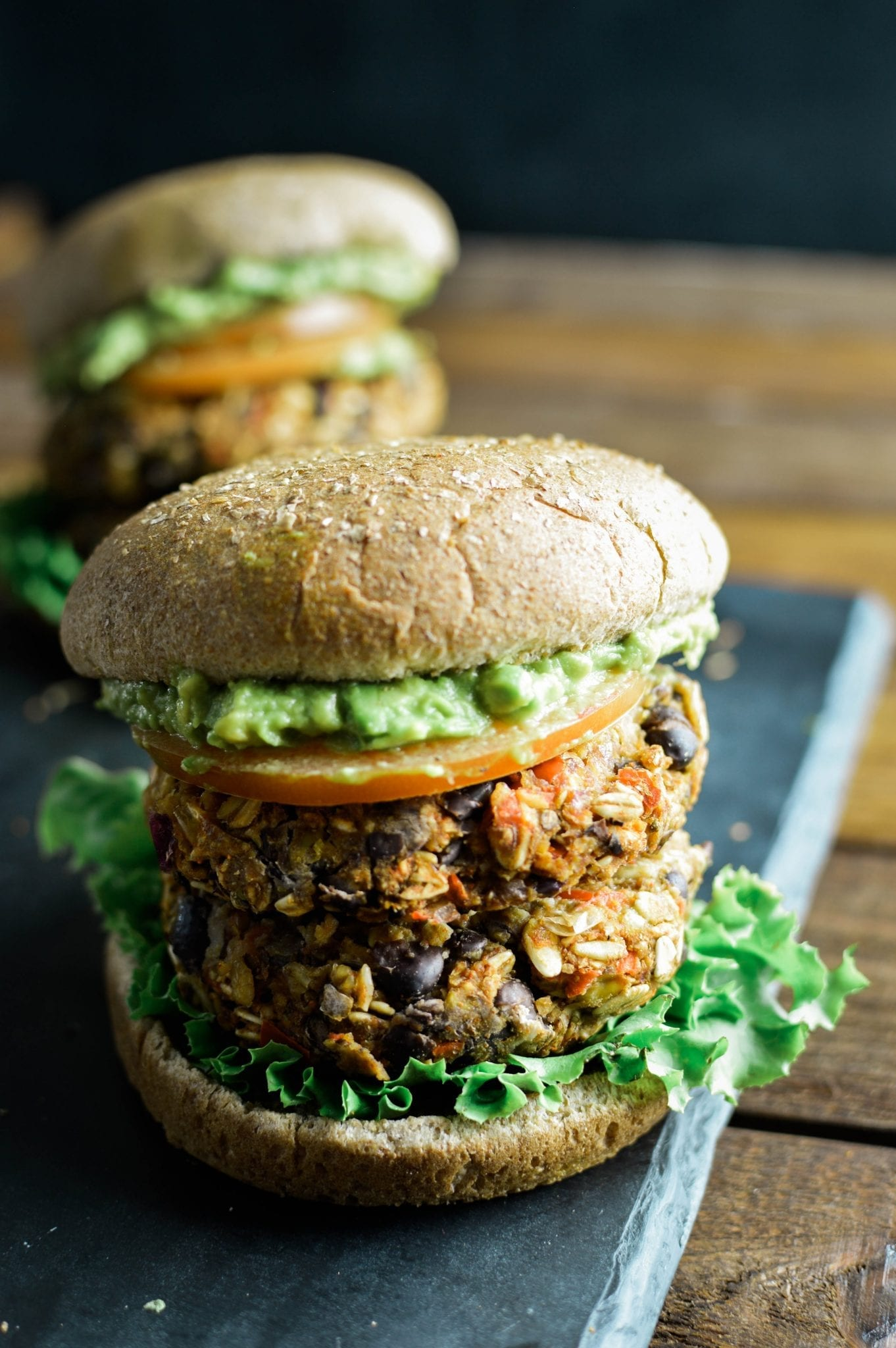 25-minute Hearty Vegan Black Bean Burger