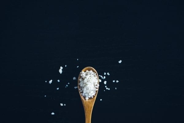 salt on a spoon