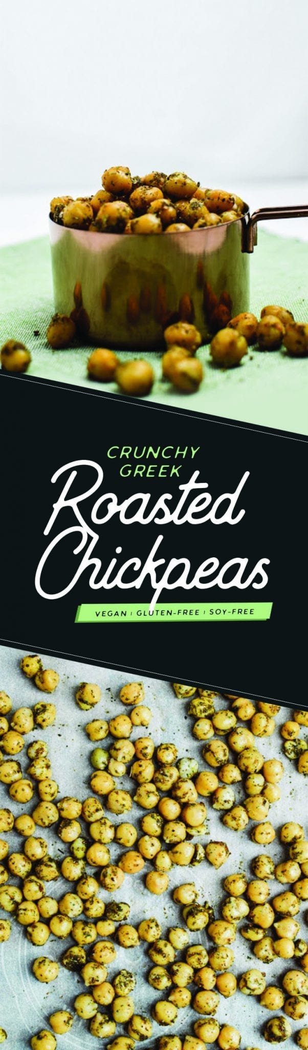 Easy and Crunchy Greek Roasted Chickpeas | Vegan | Gluten-Free | Soy-Free
