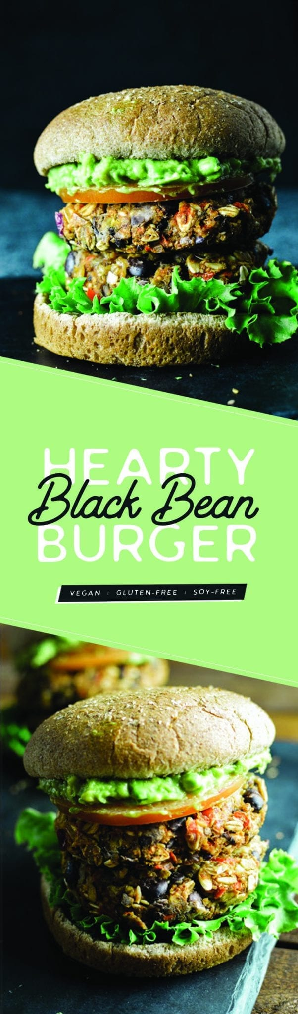 Hearty Vegan Black Bean Burger | Gluten-Free | Soy-Free