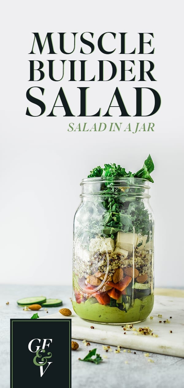 Muscle Builder Mason Jar Salad Pinterest Image
