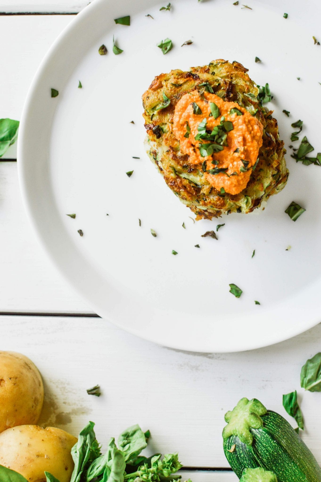 25-minute Healthy Zucchini Potato Fritters | Vegan | Gluten-Free | Soy-Free