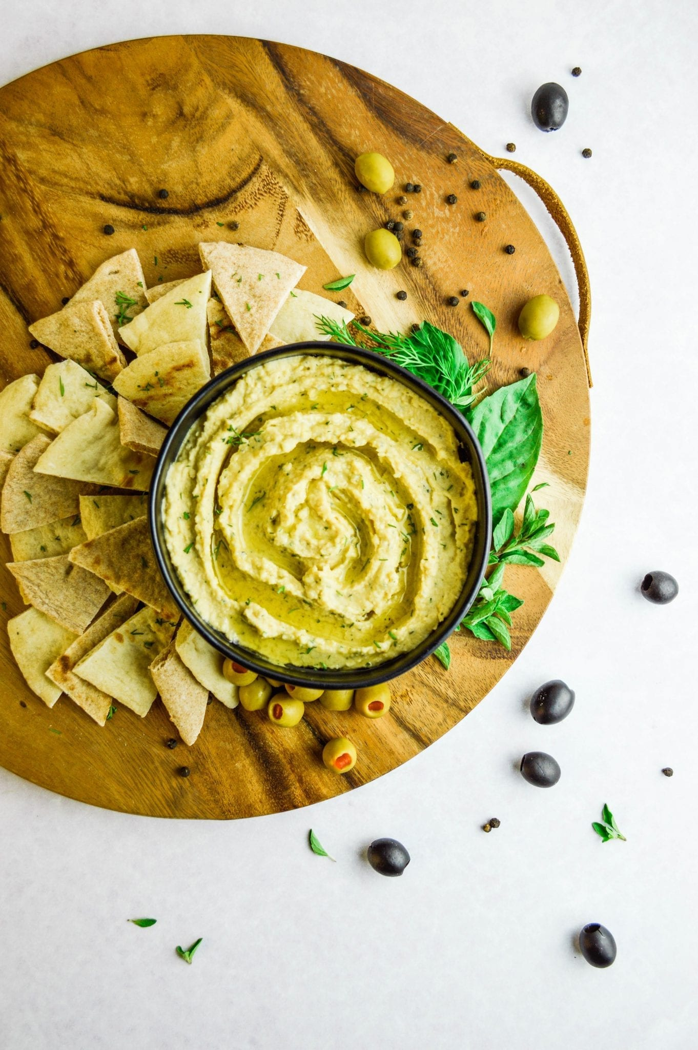 Homemade Mediterranean Hummus | Vegan & Gluten Free