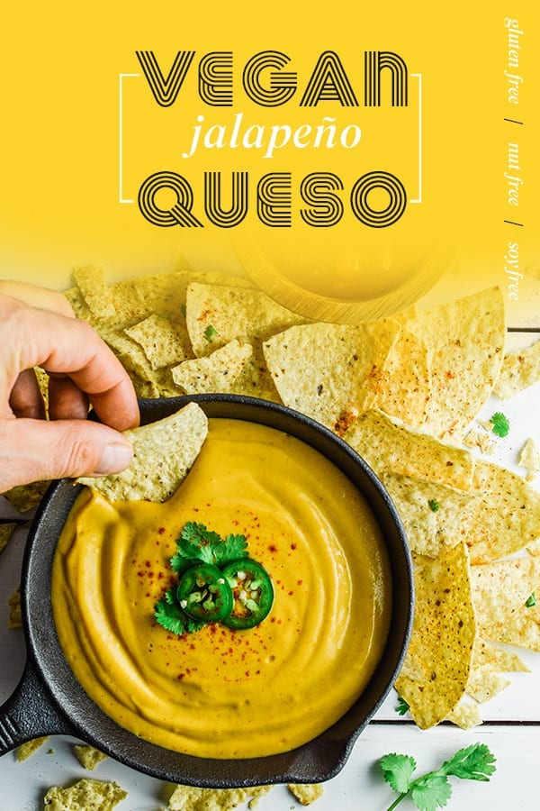 Vegan Jalapeno Queso | Nut Free | Gluten Free | Soy Free