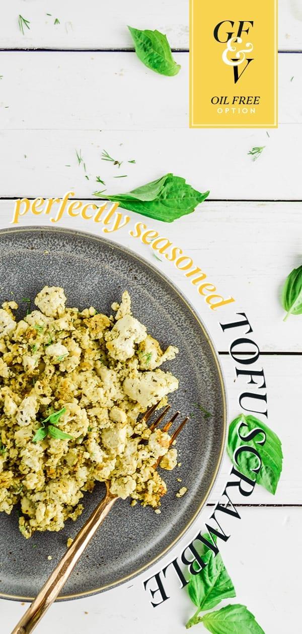 Perfectly Seasoned Tofu Scramble | Plant Based Scotty