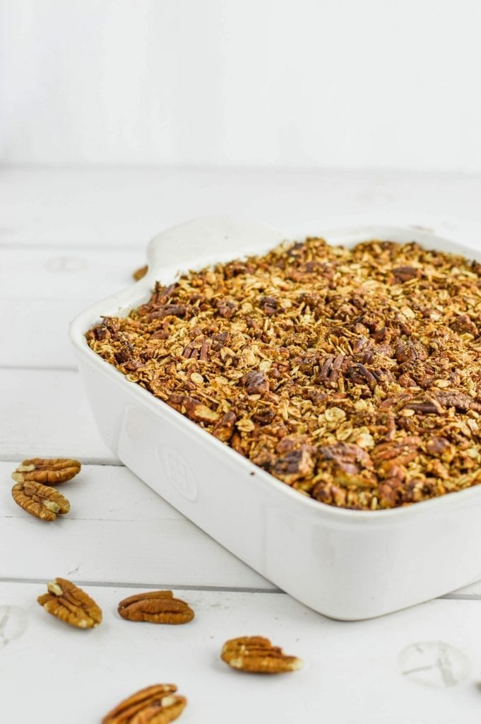 Maple Pecan Sweet Potato Casserole | Vegan | Gluten Free | Refined Sugar Free
