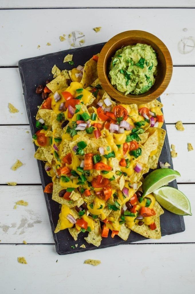 Loaded Vegan Nachos | Gluten Free | Cheezy & Delicious