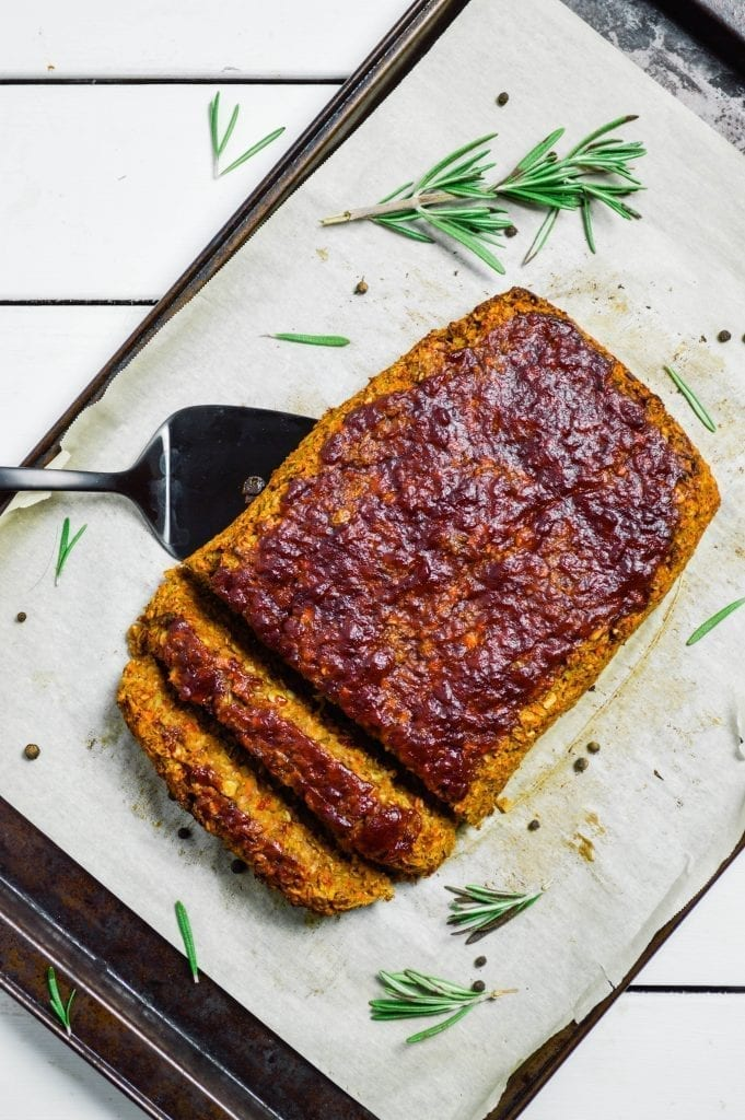 Rosemary Lentil Meatloaf | Vegan | Gluten Free | Oil Free
