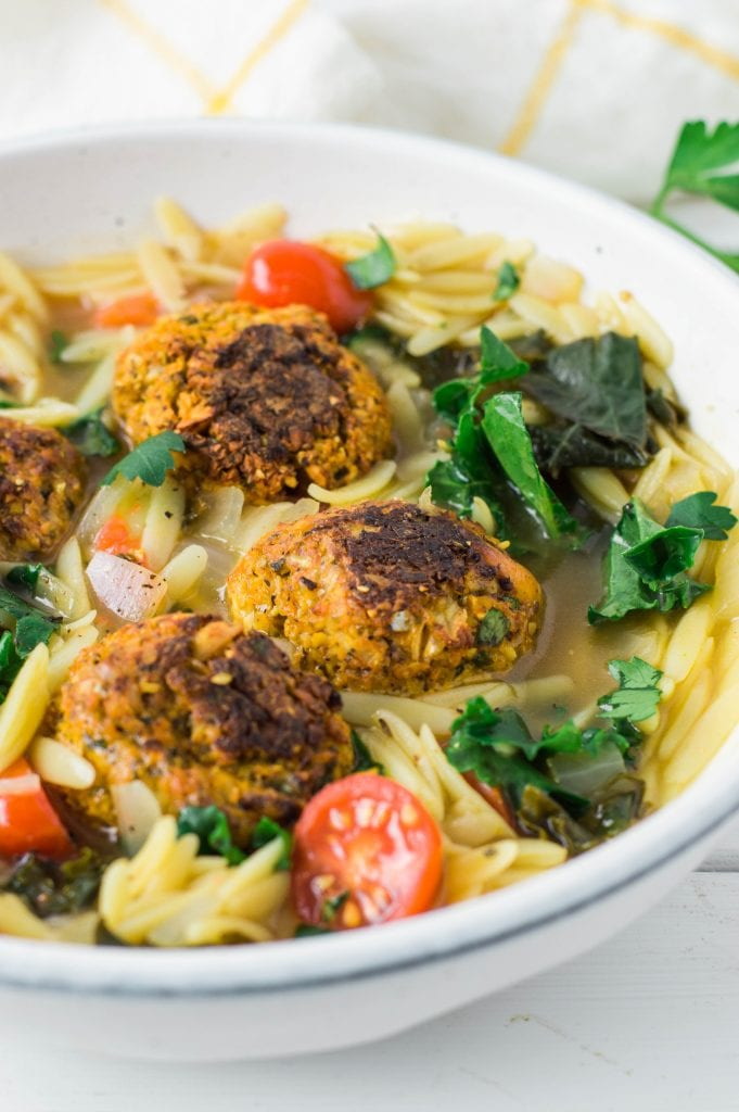 Vegan Italian Meatball Stew | Gluten Free | Oil Fee Option